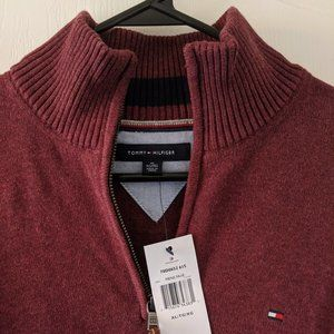 Tommy Hilfiger Maroon Red Mens Pullover New Sz XL